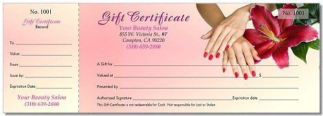 Gc26 Gift Certificates Printing For Nails